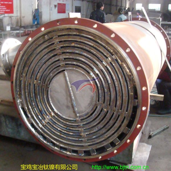 80 Square Ti Spiral-Plate Heat Exchanger